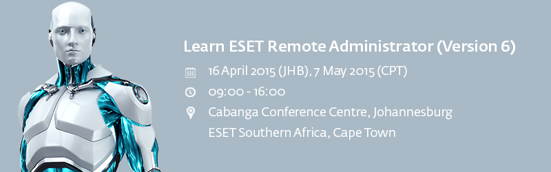 RSVPs are now open for the FREE Boot Camp by AVeS and ESET in Johannesburg and Cape Town